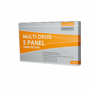 HOMEMED Multi-Drug 5 Panel Dipcard Single